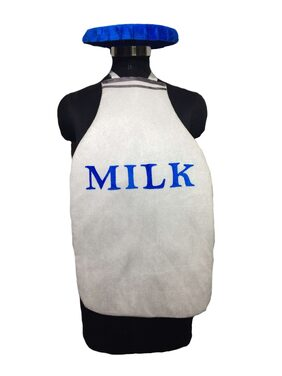 Pink Apricot Milk bottle healthy food eatables costume dress