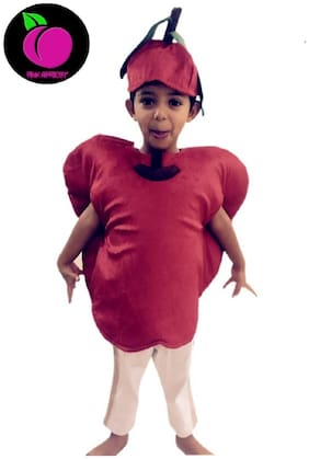 Pink Apricot Apple RED fruit costume DRESS