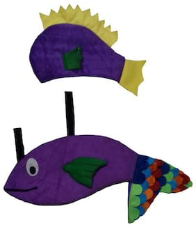 PINK APRICOT Water aquatic animal Purple fish costume