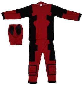 Pink Apricot Superhero Dead-pool Costume/partystae/fancy dress/school competition/drama /shows