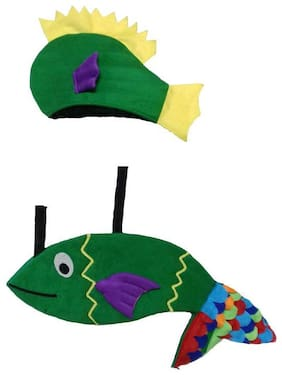 PINK APRICOT Water aquatic animal Green fish costume