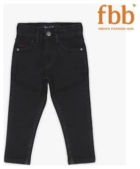 Pink & Blue Boy's Slim fit Jeans - Black