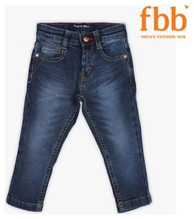 Pink & Blue Boy's Slim fit Jeans - Blue