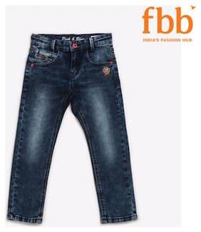 Pink & Blue Boy's Slim fit Jeans - Blue