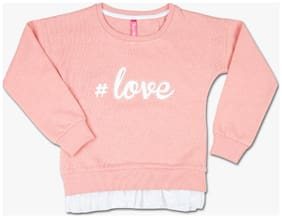 Pink & Blue Boy Blended Printed Sweatshirt - Brown