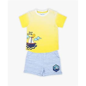Pink & Blue Baby Boy Combo Set - Yellow