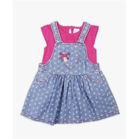 Pink   Blue Schiffili Top   Dungaree Set b12ad46c0