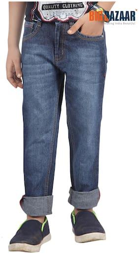 Pink & Blue Slim Fit Boy's Jeans