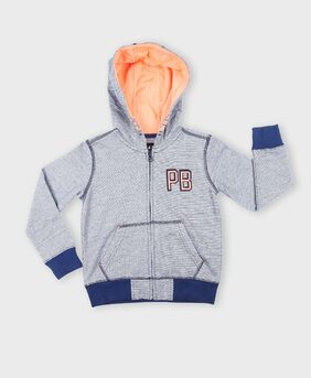 Pink & Blue Girl Cotton Solid Sweater - Blue