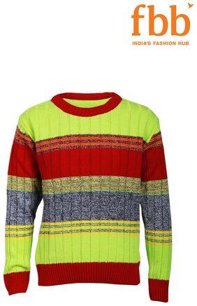 Pink & Blue Striped Boys Multi Sweater