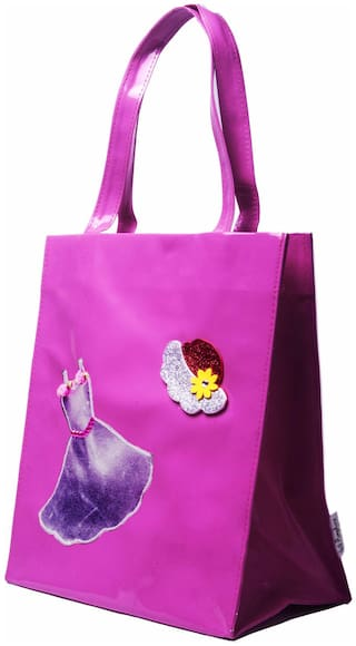 Pink Dress Kids Big Tote ( Return Gift / Birthday Gift / Travel Kit / Wallet / accessories kit/Organizer )