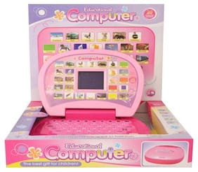 Pink Mini Learning Kids Display Laptop By Signomark