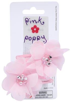 Pink Poppy Irish Petals with Gem Hairclip 2