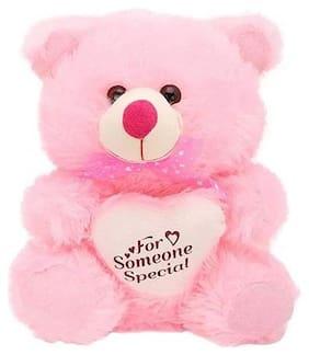 ZOOMINO Pink Teddy Bear - 30 cm