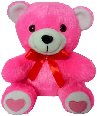 KOKO TOYS Pink Teddy Bear - 18 cm