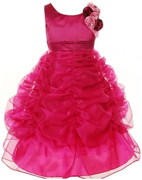 Pink Wings Pink Dress (Size-14)