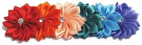Pinkblue India Rainbow Colored Floral Infant Headband With Diamonds