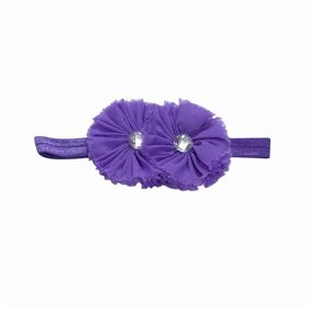 PinkBlue India Elegant Two Flower Purple Baby Headband
