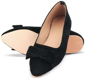 PKKART Black Ballerinas For Girls
