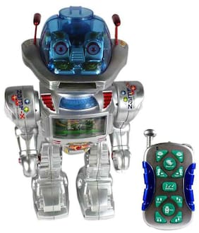 Planet Of Toys Intelligent Remote Control Disc Shooting Robot