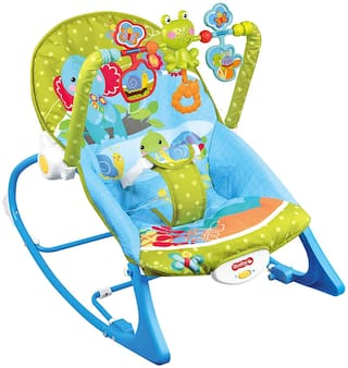 Planet of Toys Rocker Reclining Chair for Babies & Toddlers with Musical - (Blue)