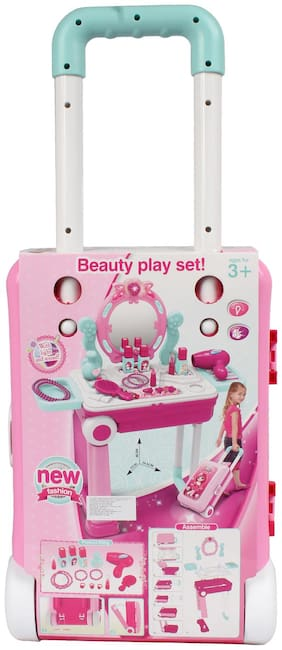 Planet of Toys 2 in 1 Makeup Play Set with Light, Sound for Kids, Children