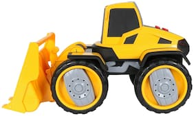 Planet of Toys Friction Powered Bulldozer Construction Truck Vehicle Toy for Kids with Light & Sound