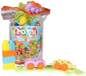 Planet of Toys Toddler 96 Pcs Building Blocks Set For Kids;Children