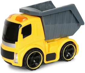Planet of Toys Friction Powered Dump Truck Construction Vehicle Toy for Kids with Light & Sound