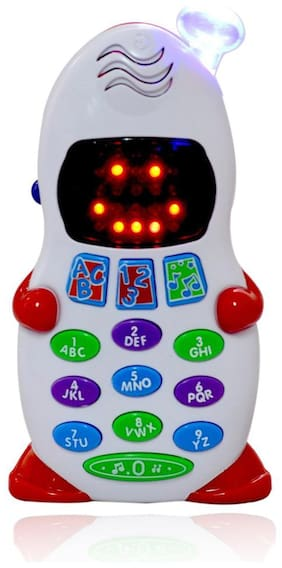 Planet of Toys Alphabets Numbers Learning Educational Toys Aptitude Learner Toy Phone for Kids