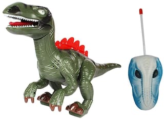 Planet of Toys Remote Control 2 Function Dinosaurs with Light and Sound