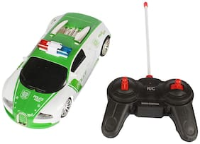 Planet of Toys 1:18 Scale Remote Control Full Function Mini Bugatti Police Racing Car With Lights For Kids;Children