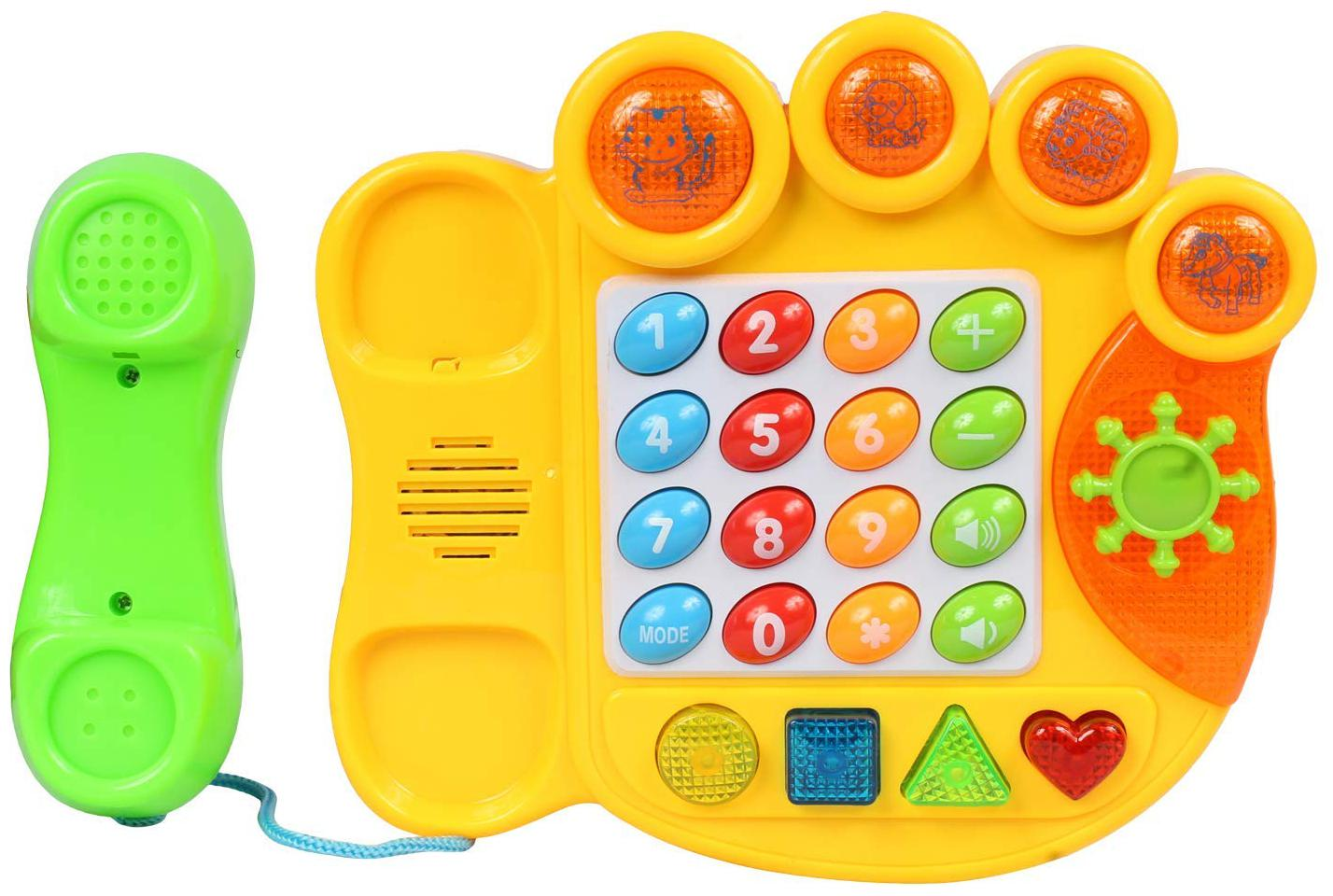 Planet of Toys Electric Learning Telephone Machine With Music   Light For Kids, Children