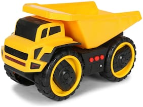 Planet of Toys Friction Powered Dumper Construction Shovel Truck Toy for Kids with Light & Sound