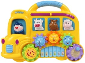 Planet of Toys Car Piano With Music For Kids, Children, toddler