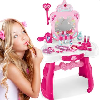 new concept 37a3f 5057d Buy Plastic Pretend Play Children Vanity Dressing Table ...