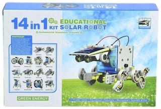 play pacific 14 in 1 Educational Solar Robot Kit toys for kids (Multicolour)