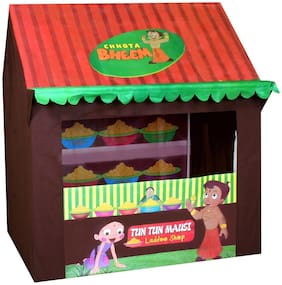 Play Pacific Jumbo Size Chhota Bheem Laddoo Shop Tent House for Kids (Multicolor)