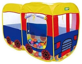 play pacific  Baby Pop Up Bus Shaped Tent House, 54x37x27 inch for kids (Multicolour)