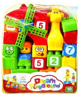 Play pacific Dream Playground Block Construction for Kids  (Multicolor)