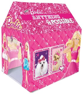 Play Pacific Barbie Kids Play Tent House Indoor And Outdoor tent(Multi Color)