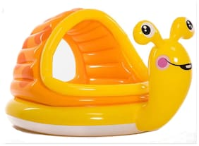Play pacific Baby Swimming Pool Inflatable Pool Lovely Animal Snail Shape PVC Bath Tub for Kids