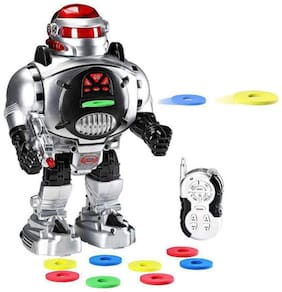 Play pacific Remote Control Robot Space Fighter - Fires Discs, Dances, Talks for kids (Multicolor)