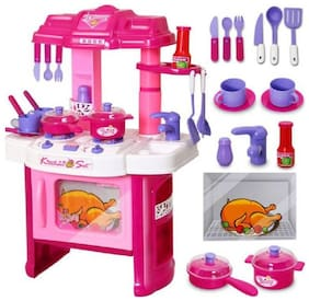 play pacific 40 Pic Big Size Luxury Battery Operated Portable Kitchen Set Toys For Girls