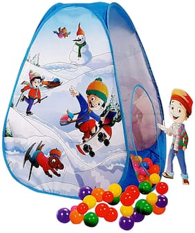 Play Tent House Magic Ball Pool Pop-Up for Kids Toy Picnic Hut - 20 Balls Included