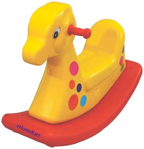 Playgro Kid's Plastic Giraffe Ride-on (76x31x51cm, Colour May Vary)