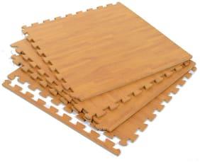 Playgro - Wooden Flooring EVA Kid's Interlocking Play Mat - 10 mm Thickness - Set of 4 Tiles - 60 cm x 60 cm Each Tile