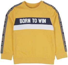 PLUMTREE Boy Cotton Printed Sweatshirt - Yellow