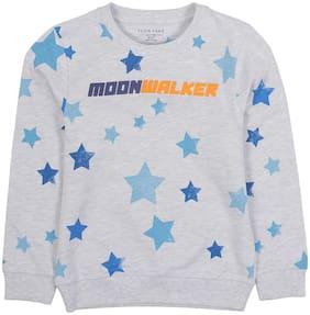 PLUMTREE Boy Cotton Printed Sweatshirt - Grey