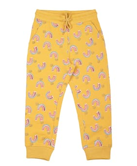 PLUMTREE Girl Cotton blend Trousers - Yellow